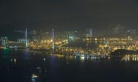 Stonecutters Bridge in Hong Kong stock image