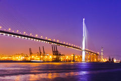 Stonecutters Bridge and ICC Stock Images