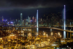 Stonecutters Bridge Night Scene Stock Images