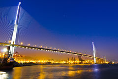 Stonecutters Bridge's magic hour Stock Photos