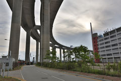 Stonecutters Bridge and the Tsing sha highway Stock Photos