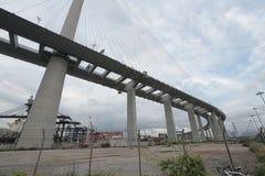 Stonecutters Bridge and the Tsing sha highway Stock Photo