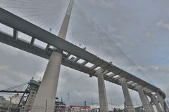 Stonecutters Bridge and the Tsing sha highway Stock Photography