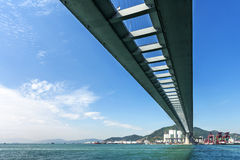 Stonecutters bridge under blue sky in the China Stock Image