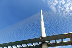 Stonecutters bridge under blue sky in the China Royalty Free Stock Images