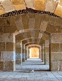 Stoned arched Passage, Alexandria, Egypt Royalty Free Stock Photography