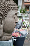 Stoned buddha statue. In outdoor Royalty Free Stock Image