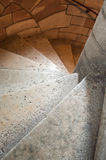Stoned circular stair of castle Stock Photography