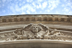 Stoned French facade Stock Images