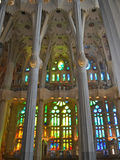 Stained glass in Sagrada Familia Royalty Free Stock Photography