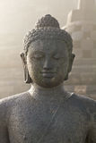 Stoned image of Buddha at Borobudur Royalty Free Stock Images