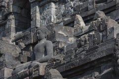 Stoned image of Buddha in Borobudur, Indonesia Royalty Free Stock Images