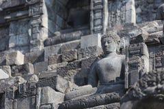 Stoned image of Buddha in Borobudur, Indonesia Stock Image