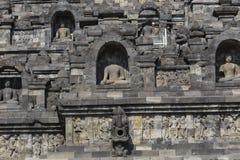 Stoned image of Buddha in Borobudur, Indonesia Stock Images