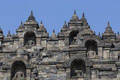 Stoned image of Buddha in Borobudur, Indonesia Royalty Free Stock Photos