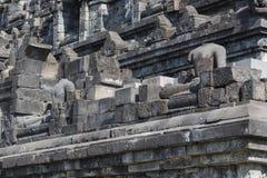 Stoned image of Buddha in Borobudur, Indonesia Royalty Free Stock Image