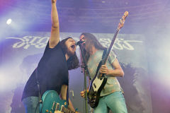 Stoned Jesus rock band performs at Atlas Weekend. Kiev, Ukraine. Royalty Free Stock Image