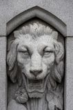 Stoned Lion. A fountain lion located in Boston Common.Has a flatter look to it compare to Stoned Lion II Royalty Free Stock Photos