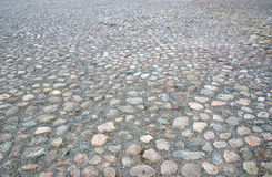 Stoned pavement. Pavement  made of different stones Stock Image