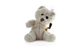 Stoned Teddy bear on neutral background Stock Photography