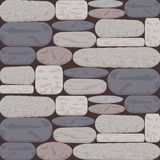 Stoned Wall Background in Shades of Grey and Rose Brown. This domestic uniform Stone wall is a beautiful blend of Slate, Silver grey and Rose brown undertone Royalty Free Stock Photos