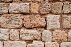 Stoned wall texture. Closeup of stoned wall texture background Royalty Free Stock Photos