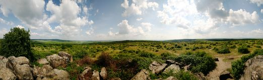 Stonefield. 360 degree panorama of a special stonefield by Lake Velence (named: Ingó kövek), in Hungary Stock Images