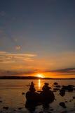 Stonefigures en la puesta del sol Foto de archivo libre de regalías