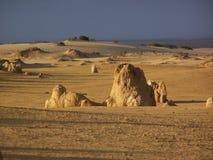Stoneformation in der Wüste stockfotos