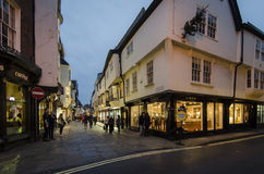 Stonegate in York at Dusk Royalty Free Stock Photos