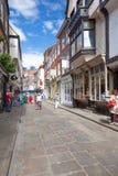 Stonegatestraat van York, een stad in North Yorkshire, Engeland Royalty-vrije Stock Afbeeldingen