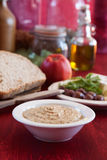 Stoneground mustard. Sauce in a bowl Royalty Free Stock Images
