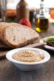 Stoneground mustard. In a bowl Stock Photo