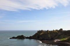 Stonehaven城堡,苏格兰 免版税库存照片
