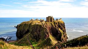 Stonehaven, замок Dunnottar Стоковое Фото
