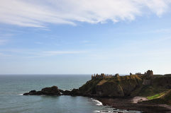 Stonehaven Castle, scotland. Stonehaven Castle, situated on a cliff, in Aberdeenshire, Scotland Royalty Free Stock Photos