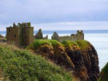 Stonehaven Dunnottar slott Arkivbild