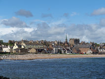 Stonehaven seen from the seaside, may 2013. Stonehaven is a coastal town on Scotland north east coast Royalty Free Stock Photo