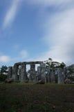 Stonehedge in vulcani di merapi Immagini Stock