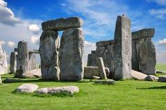 Stonehenge è un monumento preistorico Il Wiltshire, Inghilterra immagine stock libera da diritti