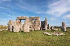 Stonehenge ένα αρχαίο προϊστορικό μνημείο πετρών κοντά στο Σαλίσμπερυ, UK, περιοχή παγκόσμιων κληρονομιών της ΟΥΝΕΣΚΟ στοκ φωτογραφίες