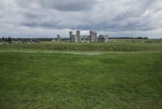 Stonehenge - πράσινα λιβάδια Στοκ φωτογραφίες με δικαίωμα ελεύθερης χρήσης