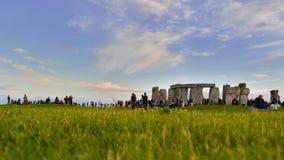 Stonehenge την παραμονή του καλοκαιριού Solstice Στοκ Φωτογραφία
