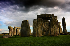 Stonehenge. Photograph of stonehenge in England with stormy sky in background royalty free stock images