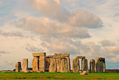 Stonehenge. The ancient landmark of Stonehenge in the south of england on an autumn day Stock Images