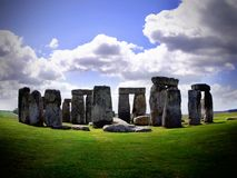 Stonehenge. In pool of light. Prehistoric monument located in the English county of Wiltshire royalty free stock images
