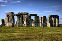 Stonehenge. Scenic view of Stonehenge prehistoric monument, Wiltshire, England Stock Photos