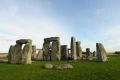 Stonehenge. The mysterious ancient monumement of stonehenge on salisbury plain England Royalty Free Stock Photography