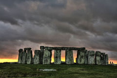 Stonehenge. An ancient prehistoric stone monument near Salisbury Wiltshire UK royalty free stock photo