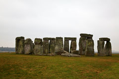 Stonehenge. Famous Stonehenge in a foggy winter day royalty free stock photography